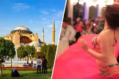 Istanbul Sultanahmet Tour and Bosphorus Dinner Cruise with Turkish Night